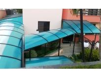 instalação de cobertura em policarbonato na Ponte Rasa