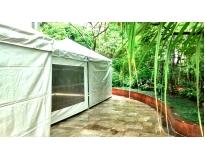 quanto custa tenda piramidal cristal em Santa Isabel