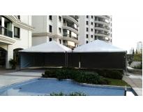 tendas piramidais com calha na Cidade Patriarca