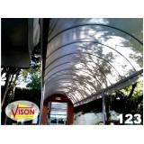 toldo policarbonato transparente preço na Vila Augusta