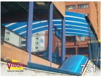cobertura de policarbonato para escada no Centro