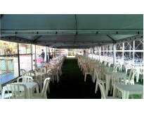 locação de tendas para festas no Jardim dos Camargos