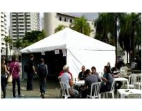 quanto custa alugar tenda para eventos no Campo Belo