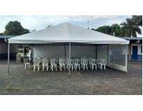 serviços de empresa de aluguel de tendas na Lageado